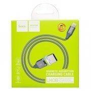 Кабель Hoco U40B магнитный для Apple (USB - Lightning) серый — 3