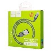 Кабель Hoco U40B магнитный для Apple (USB - Lightning) серый — 2